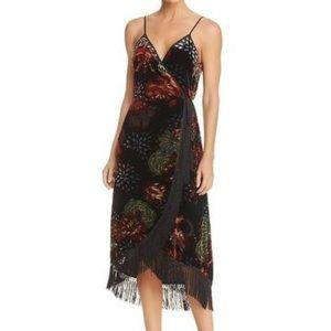 Band of Gypsies Velvet burnout wrap dress